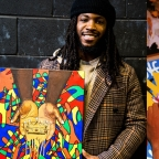 """Former Redblacks' and current B.C Lions running back Wayne Moore looks to be an artist after football, """"Sports and art have always been a part of my life."""""""